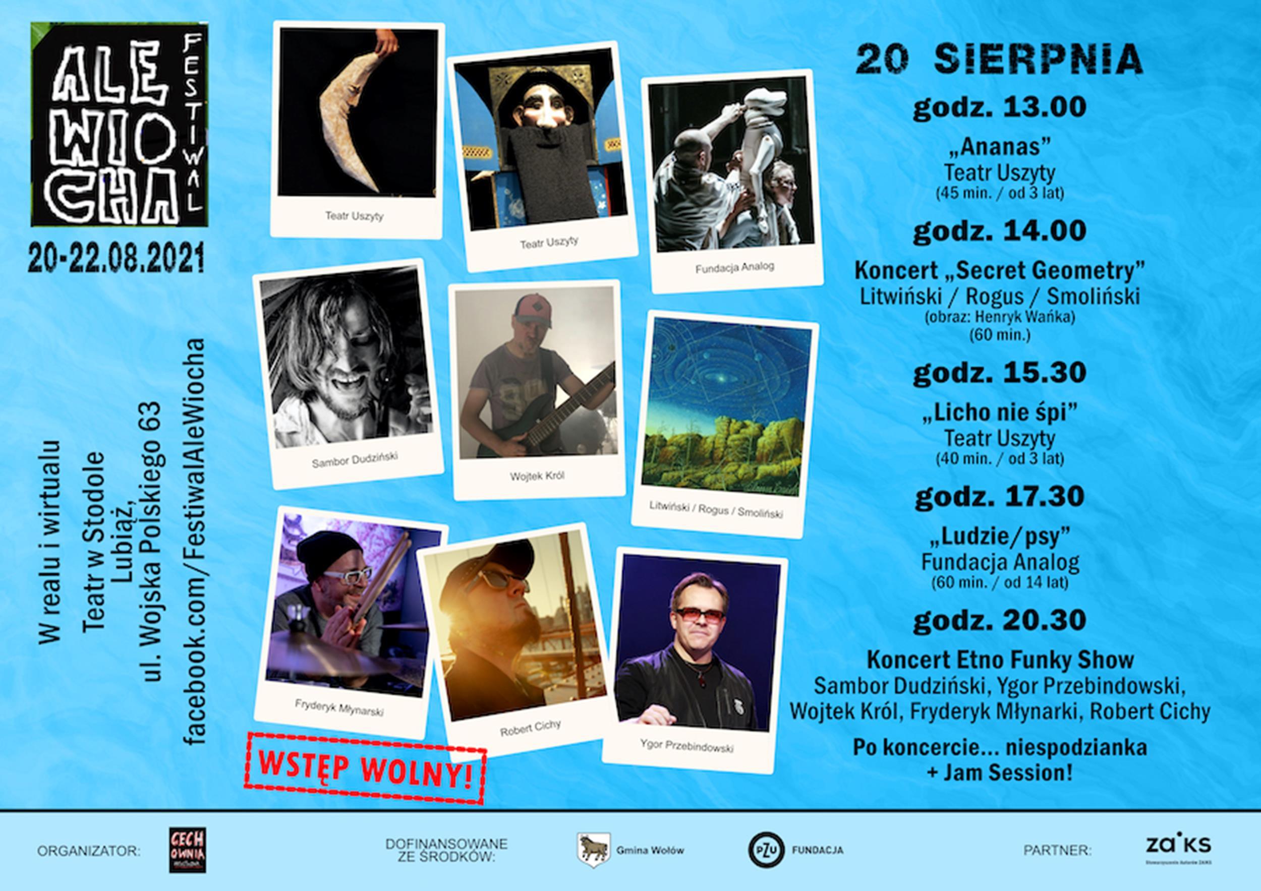 Festiwal Ale Wiocha 2021 Program (Dzień 1)