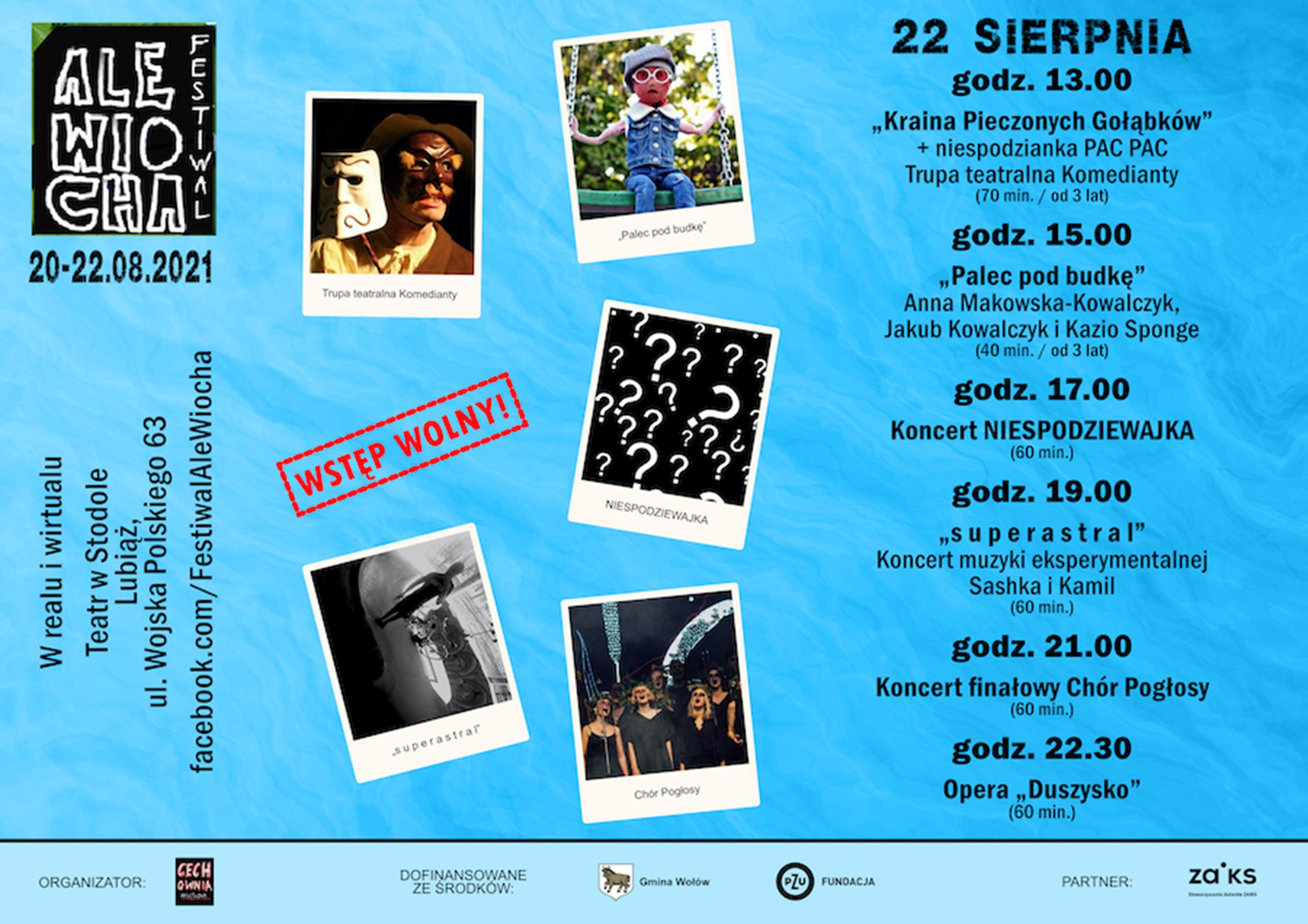 Festiwal Ale Wiocha 2021 Program (Dzień 3)