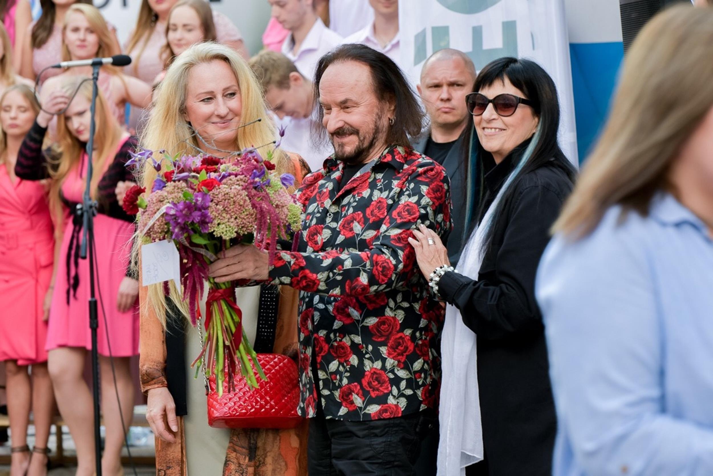 Anna Maleady, Stan Borys, Wanda Kwietniewska fot. Sławoj Dubiel