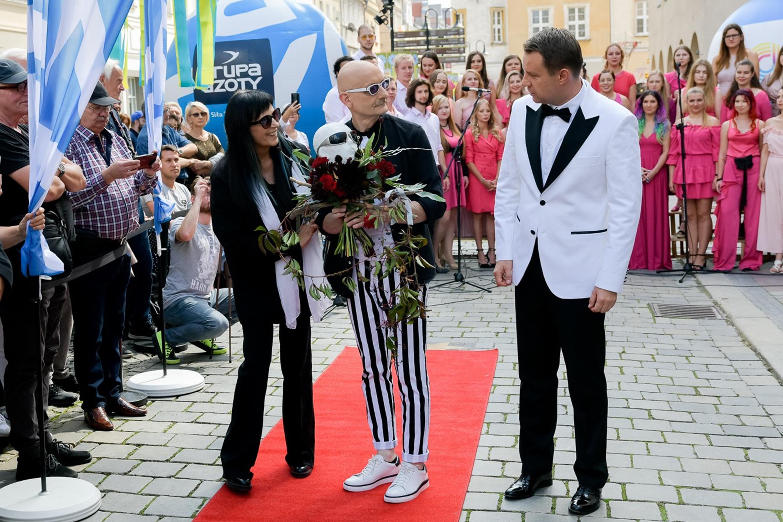 (od lewej) Wanda Kwietniewska, Sławomir Łosowski, Arkadiusz Wiśniewski Prezydent Miasta Opole fot. Sławoj Dubiel